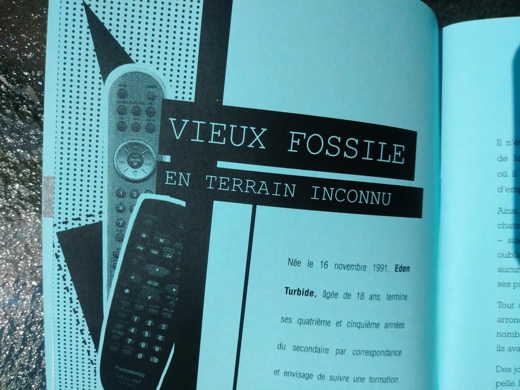 Couverture de la nouvelle littéraire Vieux fossile en terrain inconnu