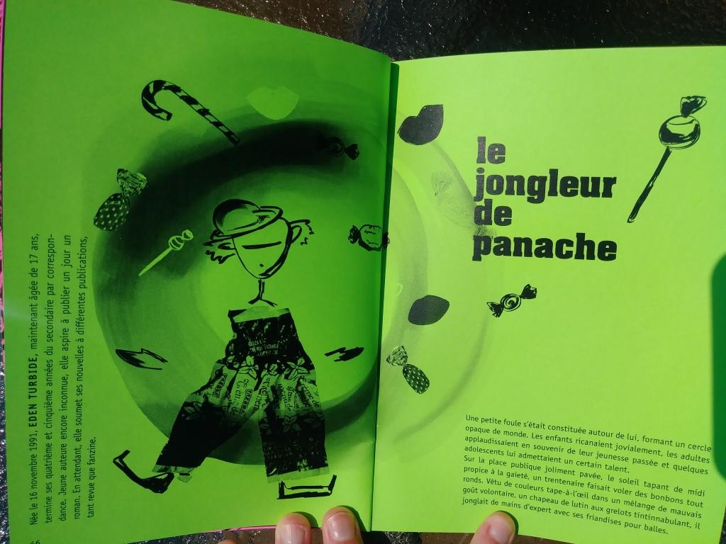 Couverture de la nouvelle littéraire Le jongleur de Panache