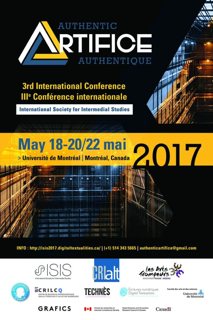 Affiche du colloque « Authentique Artifice »