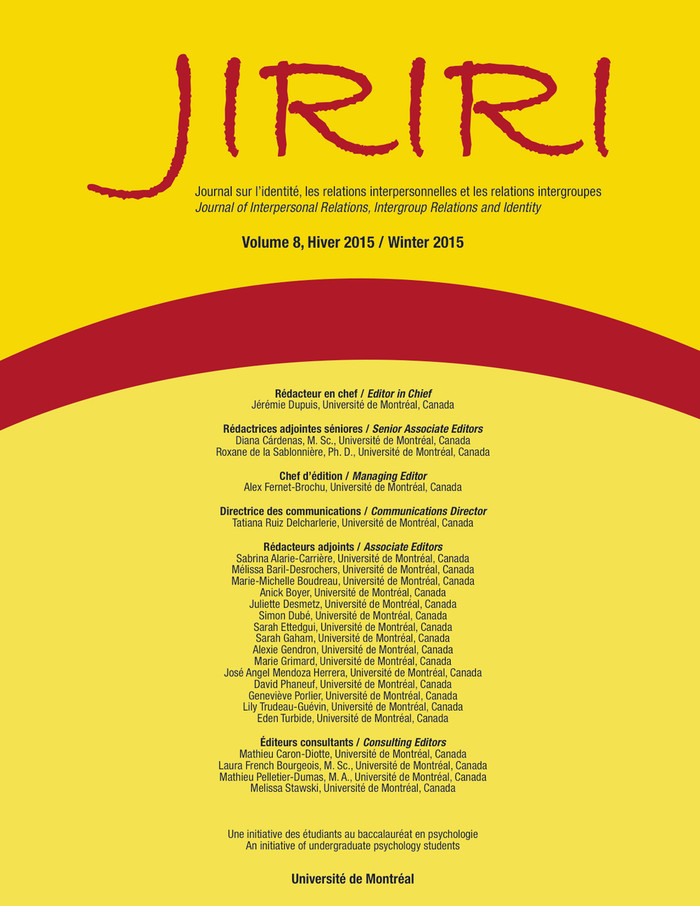 JIRIRI, vol. 8, Hiver 2015