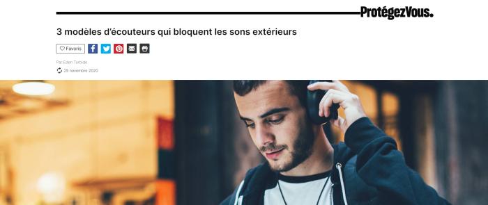 Titre de l'article Protégez-Vous : 3 modèles d'écouteurs qui bloquent les sons extérieurs