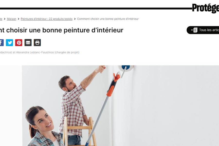 Article de PV : Guide d'achat pour la peinture intérieur