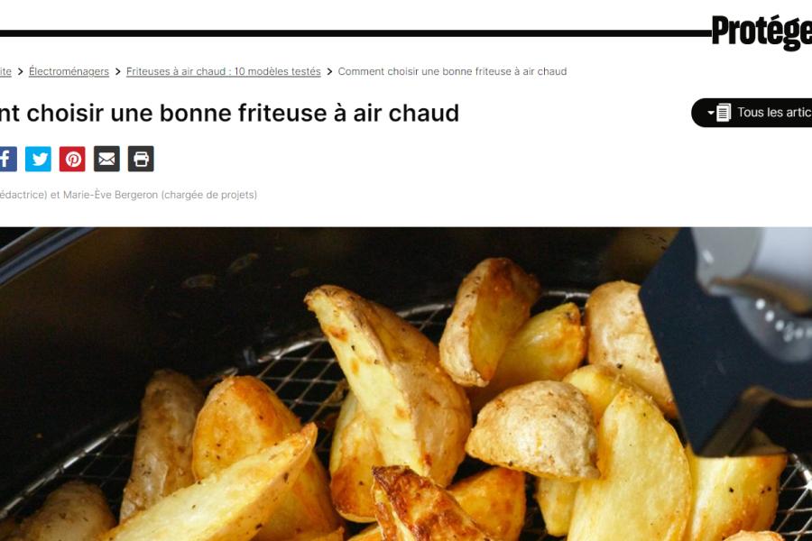 Protégez-Vous Comment choisir une bonne friteuse à air chaud